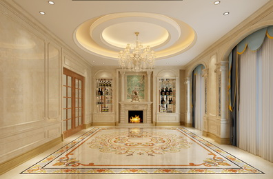 Marble background wall design/ Marble frame/Colum/Water jet flooring /Wall