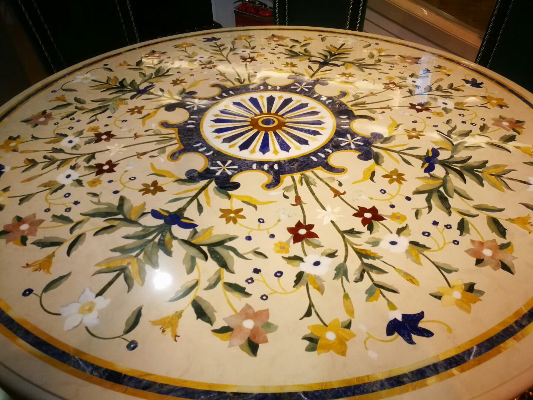 Luxury High End Flooring Lobby Water Jet Marble Floor Design Waterjet Medallion Pattern Design Yunfu Vima Stone Co Ltd